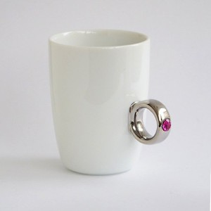 Floyd Cup Ring フロイド カップリング [ White x Silver ピンク ] マグカップ