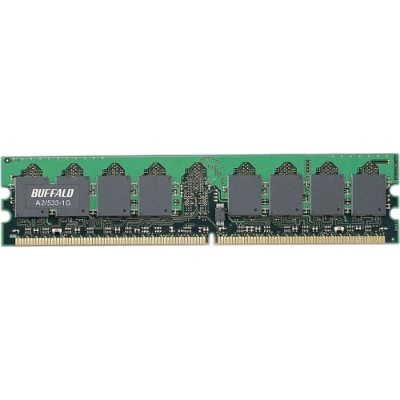 BUFFALO Mac用 DDR2 533MHz SDRAM(PC4200)240pin DIMM 1GB A2/533-1G