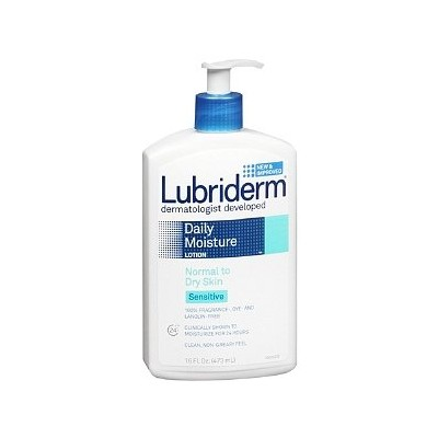 【海外直送品】Lubriderm Daily Moisture Lotion Sensitive for Normal to Dry Skin - 16oz(473ml)