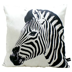 JAM アニマルクッション Animal side face Zebra for cushion 約400×400×150mm JMC-CU-0059