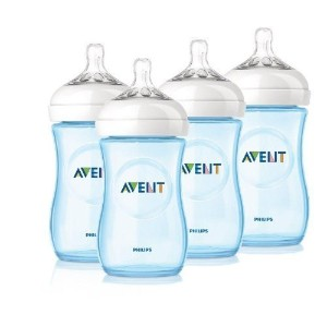Philips Avent 4 Pack Natural Polypropylene BPA Free Bottles, Blue, 9 Ounce by Philips AVENT [並行輸入品]