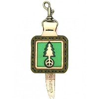 OJAGA DESIGN (オジャガデザイン) GOHEMP TREE LOGO KEY CAP Color:GREEN Size:H9xW4.5xD1.5cm