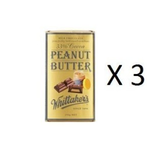 ウィッタカー Chocolate Block Peanut Butter 33% Cocoa 250g 3EA [並行輸入品]