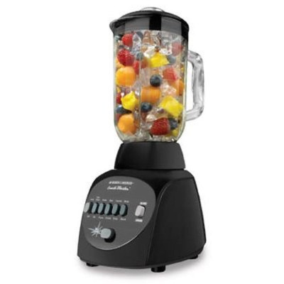ブラックアンドデッカー ブレンダー Black & Decker BL10450HB Crush Master 10-Speed Blender with 42-Ounce Glass Jar,...