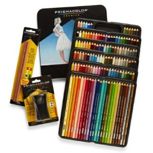 Prismacolor プリズマカラー スターターキット 色鉛筆 132色 ブレンダー シャープナー Colored Pencils, Soft Core, 132 Pack with 2...