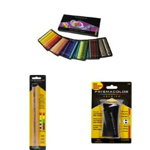 Prismacolor プリズマカラー スターターキット 色鉛筆 150色 ブレンダー シャープナー Colored Pencil 150 Assorted Colors with Blender...