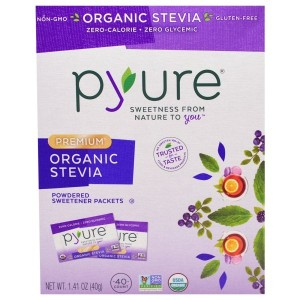 pyure zero-calorie Sweetener from the Stevia leaf 40 packets / pyure 自然のノンカロリー ステビア甘味料 40袋入(1g×40袋)...