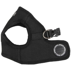Puppia Soft Vest Dog Harness - Black - X-Large by Puppia
