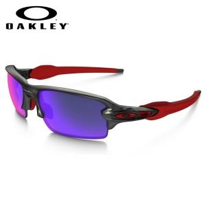 決算SALE 【OAKLEY】(オークリー) サングラス OO9271-03 FLAK 2.0 ASIA FIT Matte Gray Smoke Positive Red Iridium...