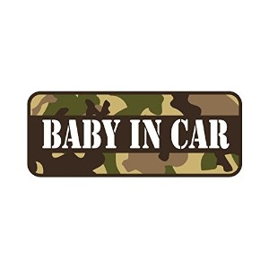 Sticker Shop Haru BABY IN CARマグネット 迷彩柄