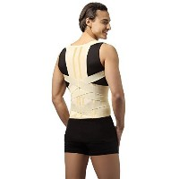 DELUXE POSTURE CORRECTOR, Lumbar Support Belt, Round Shoulder and Scoliosis Back Brace with Stiff...