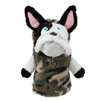 MU Sports Ladies Driver Cover French Bulldog Plush【ゴルフ レディース>ヘッドカバー】