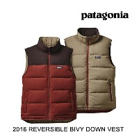 2016 PATAGONIA パタゴニア ベスト REVERSIBLE BIVY DOWN VEST CDRR CINDER RED