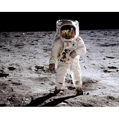 写真プリント Apollo 11 Astronaut Buzz Aldrin on the Moon, July 20, 1969