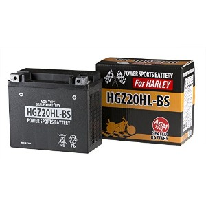≪AGMバッテリー≫ ハーレー用 HGZ20HL-BS 長寿命バッテリー 65989-90B互換