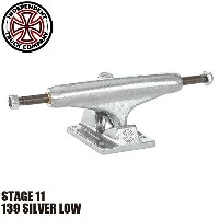 【INDEPENDENT】139 SILVER LOW STAGE 11 SKATEBOARD TRUCK(インディペンデント スケートボード トラック ロー)/