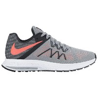 (取寄)Nike ナイキ レディース エア ズーム ウィンフロー 3 Nike Women's Air Zoom Winflo 3 Wolf Grey Bright Mango Black White