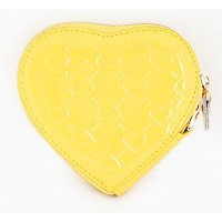 [FROMb]牛革ハートポーチheart coin wallet (イエロー)