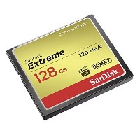 SANDISK CF128GB EXTREME 800倍速(R=120MB/s W=85MB/s)