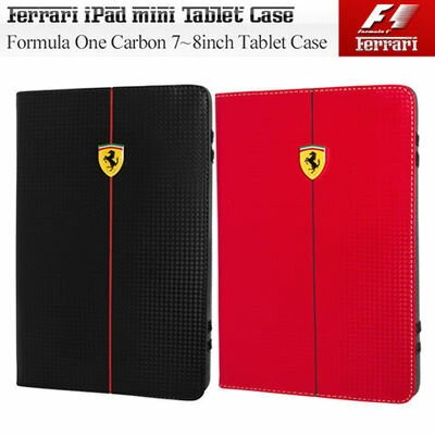 Ferrari フェラーリ 7~8インチタブレット対応カーボン調ケース[Formula One Carbon Universal Tablet Case For 7~8inch Tablet]...