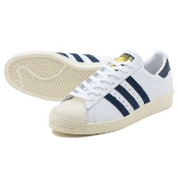 ADIDAS SUPERSTAR 80s アディダス スーパースター 80s RUNNING WHITE/COLLEGE NAVY/CHALK WHITE