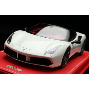 【平日即日発送可能】 MRcollection 1/18 フェラーリ 488GTB Bianco Avus with Roof and Side Mirrors Nero DS display...