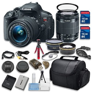 Canon EOS Rebel T5i 18.0 MP CMOS デジタル Camera HD ビデオ w/ EF-S 18-55mm f/3.5-5.6 IS STM Zoom レンズ...