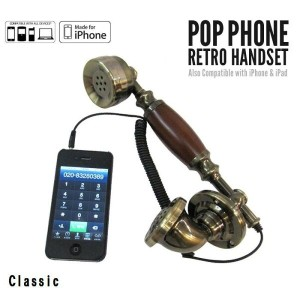 POPPHONE RETRO HANDSET ポップレトロハンドセット iPhone/iPhone4/iPhone4s/3GS/iPhone5/iPhone6/iPhone7/iPad...