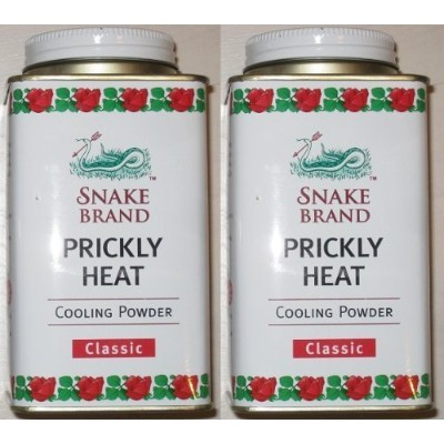 Snake Brand Prickly Heat Cooling Powder, 2-pack (Classic, 150g) by Snake Brand [並行輸入品]