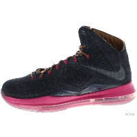NIKE LEBRON X EXT DENIM QS 567806-400 mid navy/mid nvy-hzlnt-frbrry レブロン デニム 未使用品【中古】