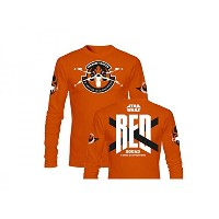 SD toys - T-Shirt - Star Wars Episode 7- Homme Red Squad Orange Manche Longue Taille L - 84365468994...
