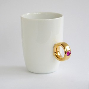 Floyd Cup Ring フロイド カップリング [ White x Gold ピンク ] マグカップ
