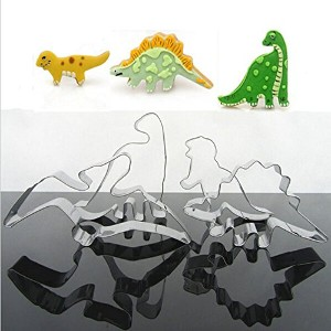4Pcs Stainless Steel Dinosaur Biscuit Cookie Cutter Tools (Usa)