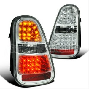 MINI テールライト 2005-2006 Mini Cooper S LED Tail Lights Rear Brake Signal Chrome 2005-2006ミニクーパーS...