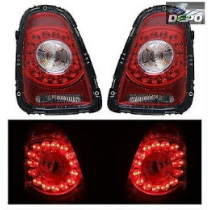 MINI テールライト 2007-2010 Mini Cooper Hatchback Convertible LED Tail Lights Red Clear DEPO 2007...