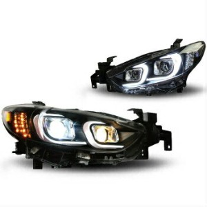 マツダ アテンザ ヘッドライト For 2014-2016 Mazda 6 Projector Headlights Assembly HID Bi Xenon Headlamp Atenza...