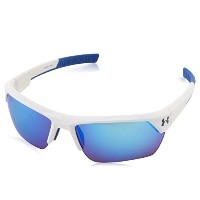 Under Armour アンダーアーマー スポーツサングラス Men's Igniter 2.0 Sunglasses Shiny White Frame W/ Blue & Rubber /...