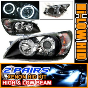 Lexus Is300 ヘッドライト 2 Sets HID 01-05 Lexus Is300 CCFL Halo Projector Lights 2セットは01-05レクサスIS300...
