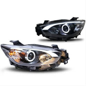 マツダ CX-5 ヘッドライト For 13-16 Mazda CX-5 CX5 Projector headlights Assembly HID Headlamp w Angel Eye...