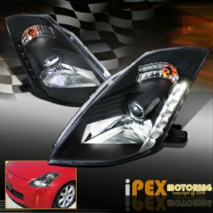 日産 フェアレディー Z ヘッドライト For 03-05 Nissan 350Z Z33 Fairlady Projector LED Black Headlights For HID Type...