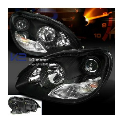 ベンツ ヘッドライト 00-05 Mercedes Benz W220 S55 S600 Projector Headlights Halogen Lamps Black 00-05メルセデスベンツW...