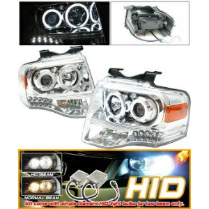 Ford Expedition ヘッドライト Xenon 8000K 07-09 Expedition CCFL Halo Projector Headlight Lights Lamps LH...