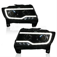 クライスラー Jeep ヘッドライト HID Headlight with LED DRL Bi-xenon Projector For 2011-2014 Jeep Compass Lamps...