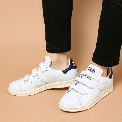 adidas Originals STAN SMITH CF (アディダス スタン スミス CF) RUNNING WHITE/COLLEGIATE NAVY/CHALK WHITE【メンズ...
