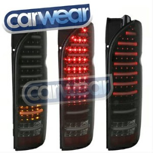 "トヨタ ハイエース テールライト LED SMOKE TAIL LIGHT TOYOTA HIACE HI-ACE VAN 04-14 "" VALENTI "" FULL LEDs LEDスモークテール..."
