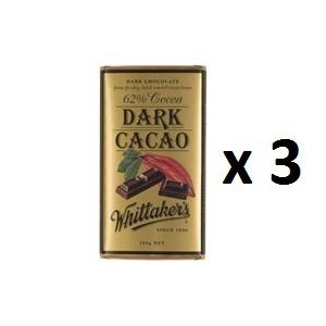 ウィッタカー Chocolate Block Block 62% Cocoa Dark Cacao 250g 3EA [並行輸入品]