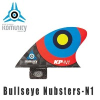 KOMUNITY PROJECT コミュニティ フィン Bullseye Nubsters-N1 レッド/サーフィン ショートボード クワッド【小型宅配便】【コンビニ受取対応商品】