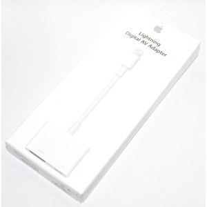 アップル純正 Apple Lightning - Digital AVアダプタ MD826AM/A iPad / iPad mini / iPhone / iPod対応 送料無料