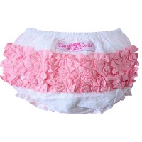 【Ruffle Butts】 ラッフルバッツ ブルマ 白/ピンク 6-12ヵ月サイズ/ bloomer White/Pink
