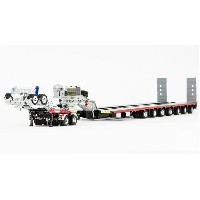 NHH - Drake 2x8 Dolly and 7x8 Steerable Low Loader Trailer トレーラー /DRAKE 建設機械模型 工事車両 1/50 ミニチュア
